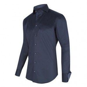 Cavallaro Heren (Hemd met spreadkraag + kraag en mouw met grafisch geweven binnenkant )