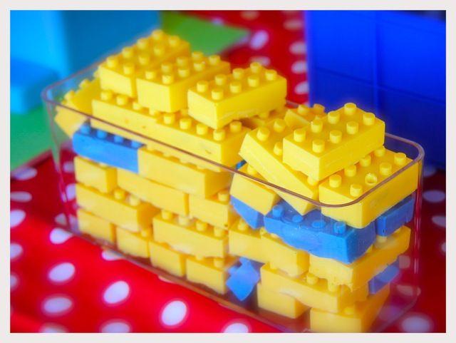 Lego brick cake pops #lego #cakepops