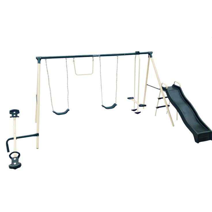 Have to have it. Flexible Flyer Backyard Flyer 6-Station Metal Swing Set $219.98