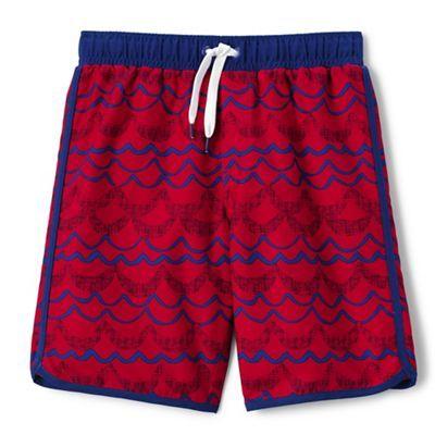 Lands' End Boys' red printed swim shorts | Debenhams