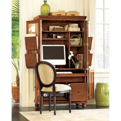 Ballard Designs Solid Wood Verona Computer Armoire U0026 Desk Picture On  VisualizeUs