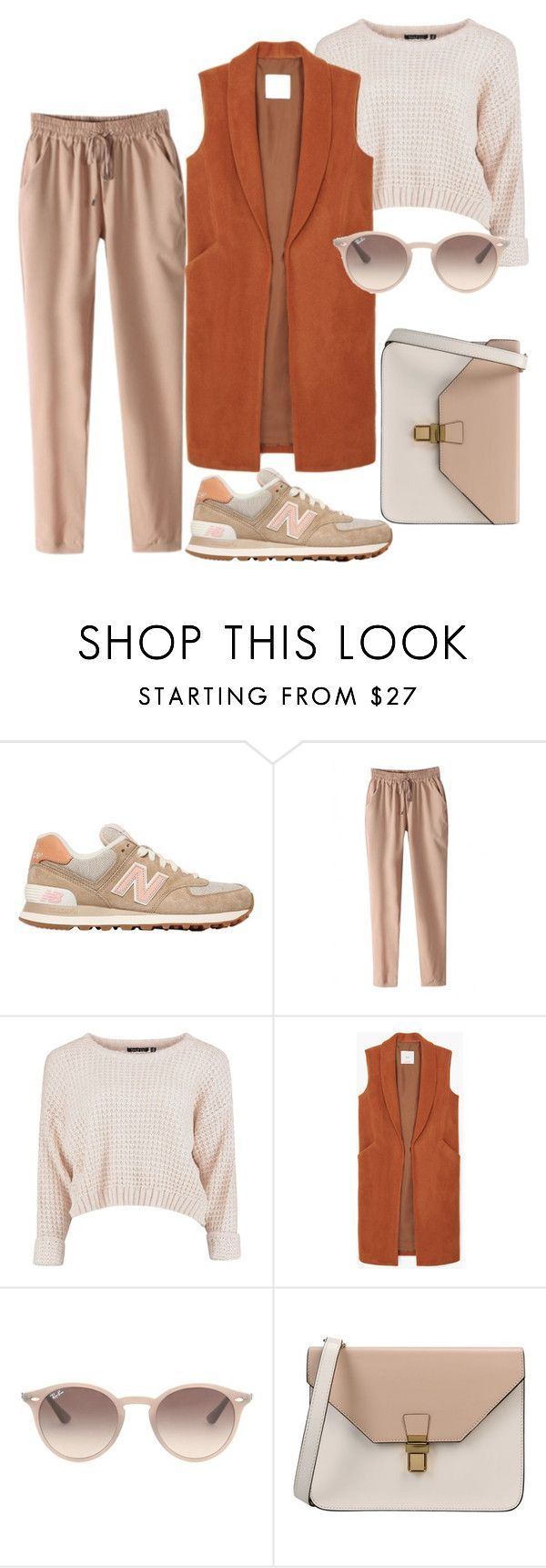 Outfit by meloprea ? liked on Polyvore featuring New Balance, MANGO, Ray-Ban and 8