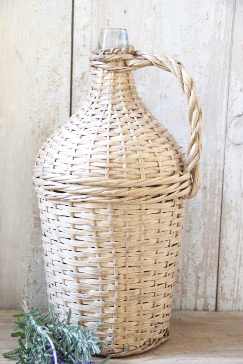 wicker demijohns~Available at American Home & Garden in Ventura CA