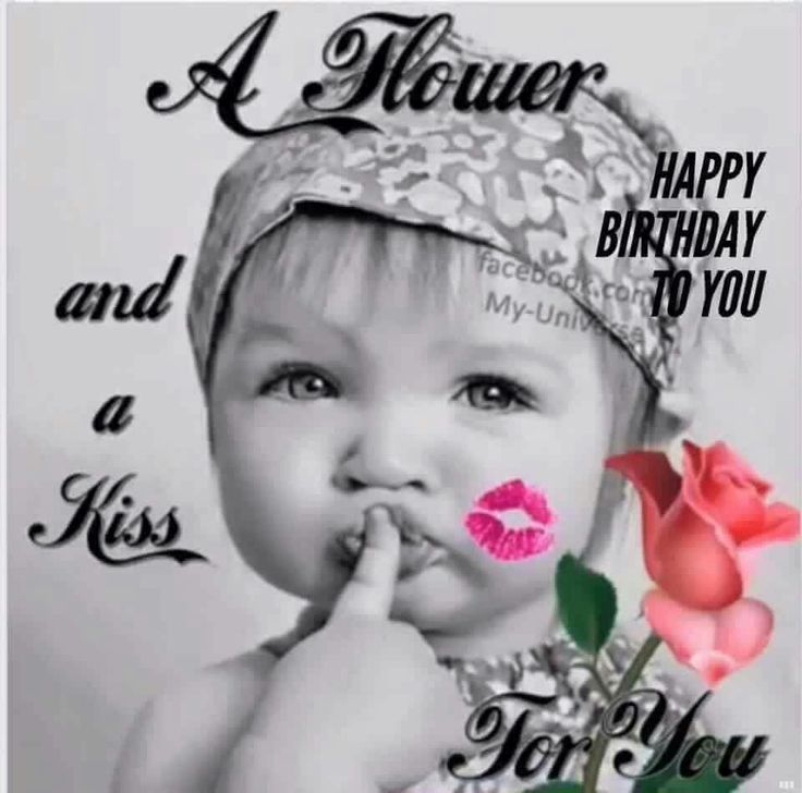 Verjaardag met een kus