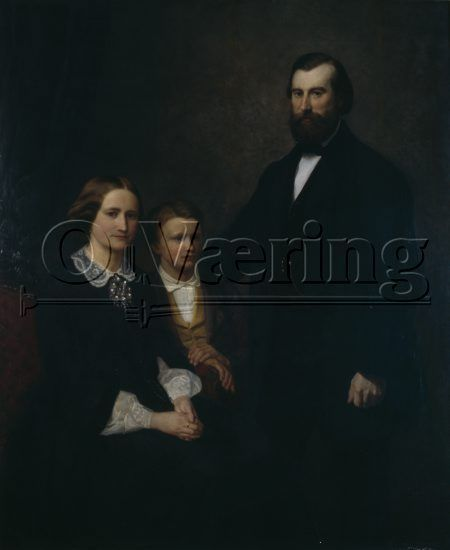 Bilde: Adolph Tidemand med familie / Adolph Tidemand with family, 1857