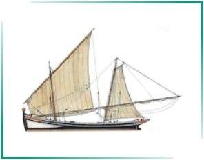 PORTUGAL MARÍTIMO: BARCOS TRADICIONAIS PORTUGUESES - Caíque de Traquete Estes caíques de Cascais eram embarcações oriundas do Algarve