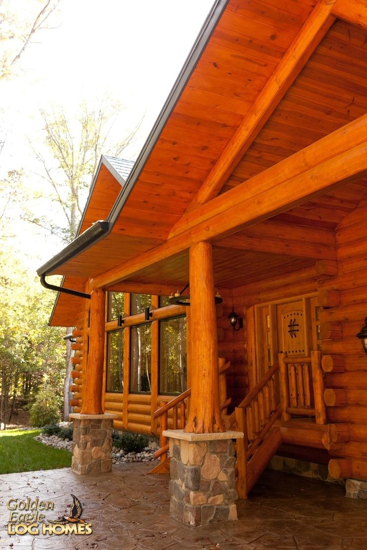 17 best images about collection exterior views of log for Log home porches