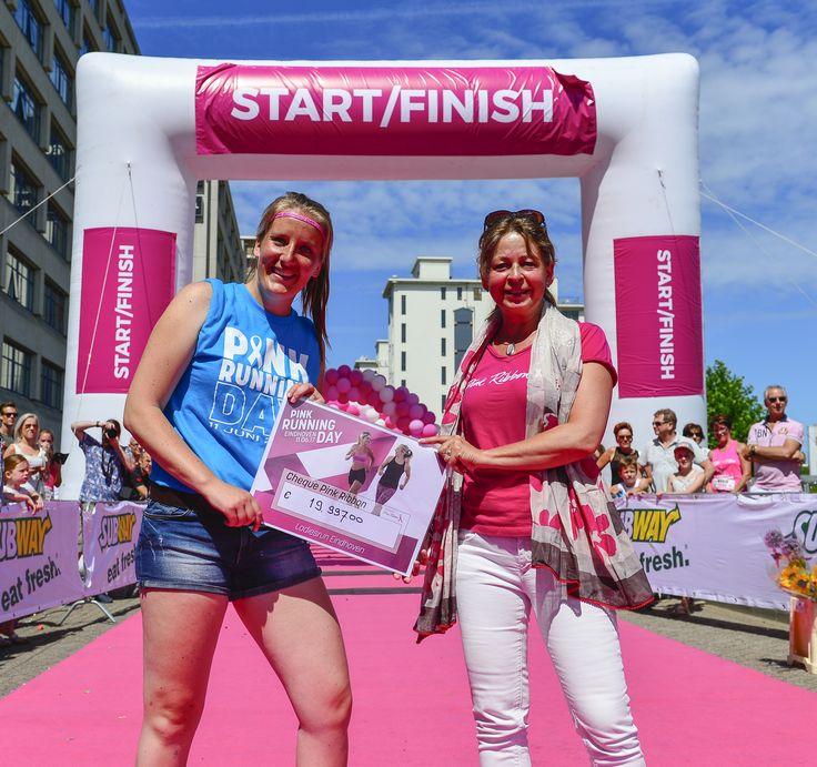 Strijp-S in Eindhoven vulde zich vandaag weer met bijna 2000 hardloopsters. De veelal in roze outfits geklede dames deden mee aan de vijfde editie van de Ladiesrun Eindhoven, een loop speciaal voor vrouwen. Ladiesrun Eindhoven steunde ook dit jaar Stichting Pink Ribbon en haalde een recordbedrag op van € 19.997,-.