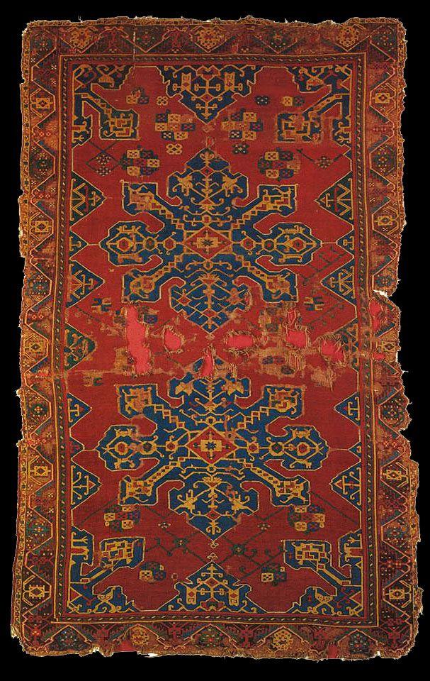 Star Ushak rug, XVII (17) century, Turkey, Ottoman Empire. Türk ve Islam Eserleri Müzesi, Istanbul