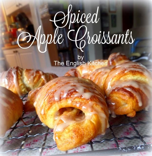 Spiced Apple Croissantsfrom The English Kitchen