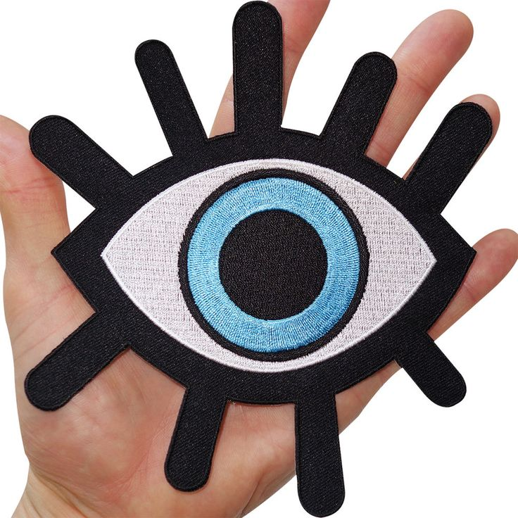 Big Evil Eye Embroidered Iron Sew On Clothes Bag Jacket Shirt Large Patch Badge in Collectables, Badges/ Patches, Patches | eBay