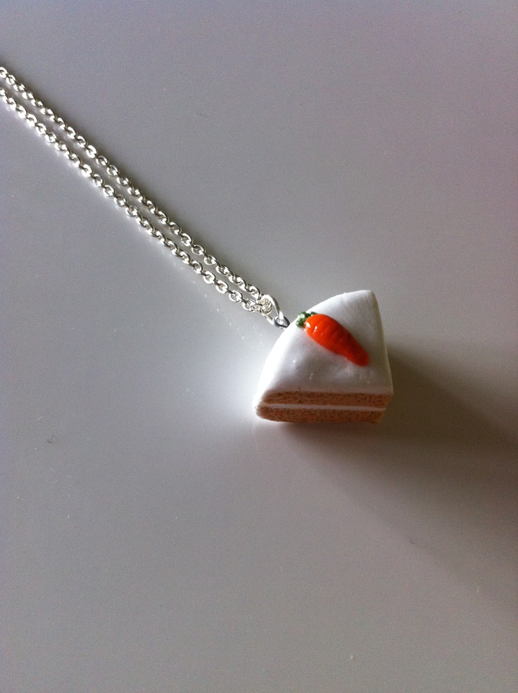 Carrot Cake Necklace