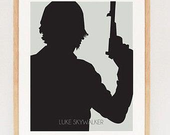 luke skywalker silhouette | Star Wars Stuff | Pinterest