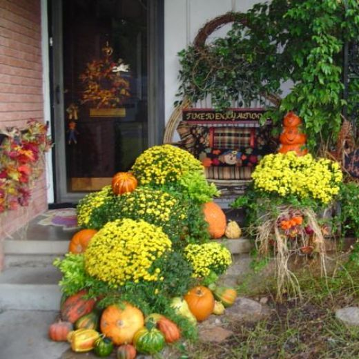Fall Country Decorating Ideas: Outdoor Fall Country Decorating Ideas