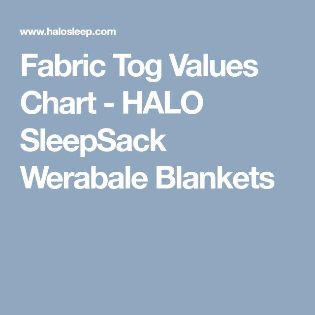 Fabric Tog Values Chart - HALO SleepSack Werabale Blankets