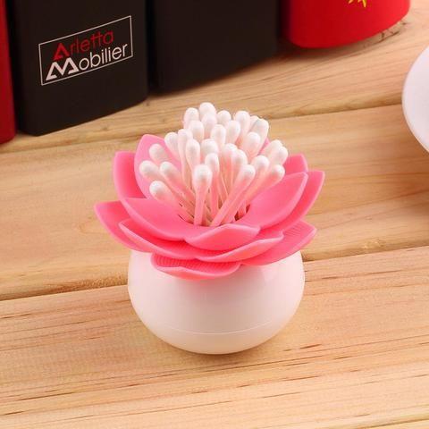 Lotus Bud Cotton Swab/Toothpick Holder