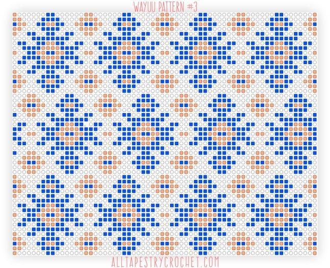 Wayuu Pattern #3. Free tapestry crochet pattern brought to you by AllTapestryCrochet.com