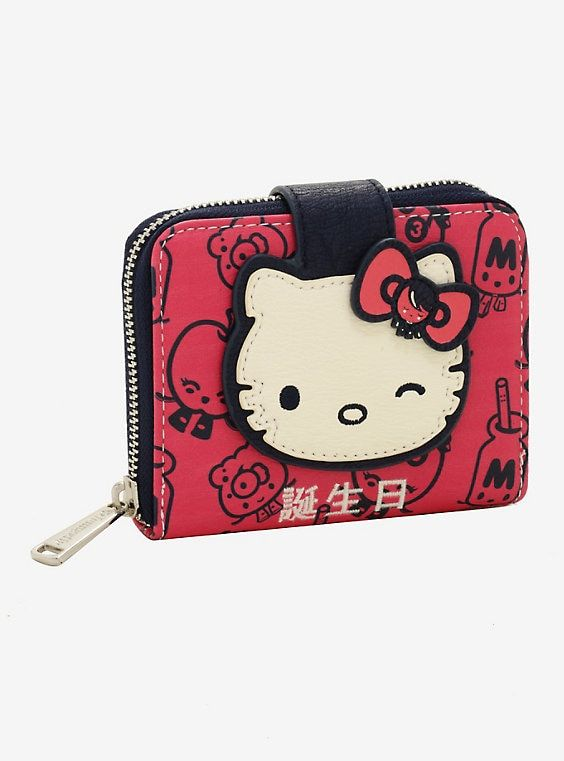 6475ed92b Loungefly Sanrio x 64 Colors Half-Zip Wallet - BoxLunch Exclusive ...