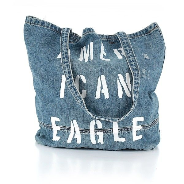 American Eagle Outfitters  Tote (7.839 KWD) ❤ liked on Polyvore featuring bags, handbags, tote bags, blue, blue tote, tote handbags, tote hand bags, man tote bag and handbags totes