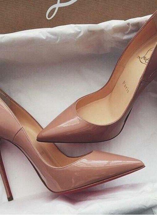 Туфли-лодочки Christian Louboutin бежевые