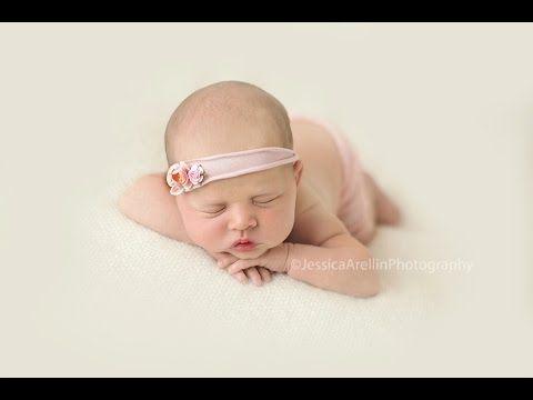 Newborn photography posing video tutorial head on hands pose