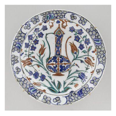 Plat à l'aiguière bleue - Musée national de la Renaissance (Ecouen)