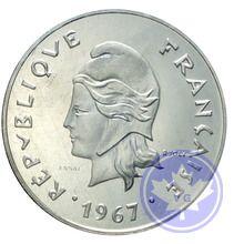 POLYNESIE-FRANÇAISE-1967-50 FRANCS ESSAI-FDC