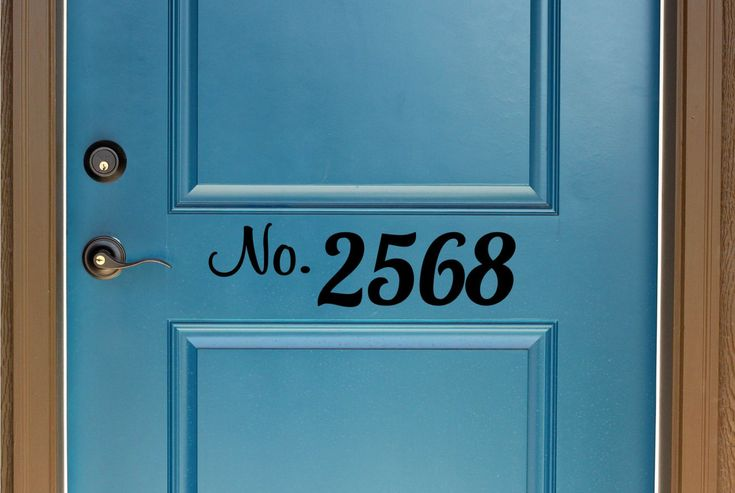 Custom House Number Vinyl Door Decal - Address Decals, Home Office Address Decal, Custom House Number Vinyl Decals, Vinyl Numbers 7.5-17.5x4 by TheVinylCompany on Etsy