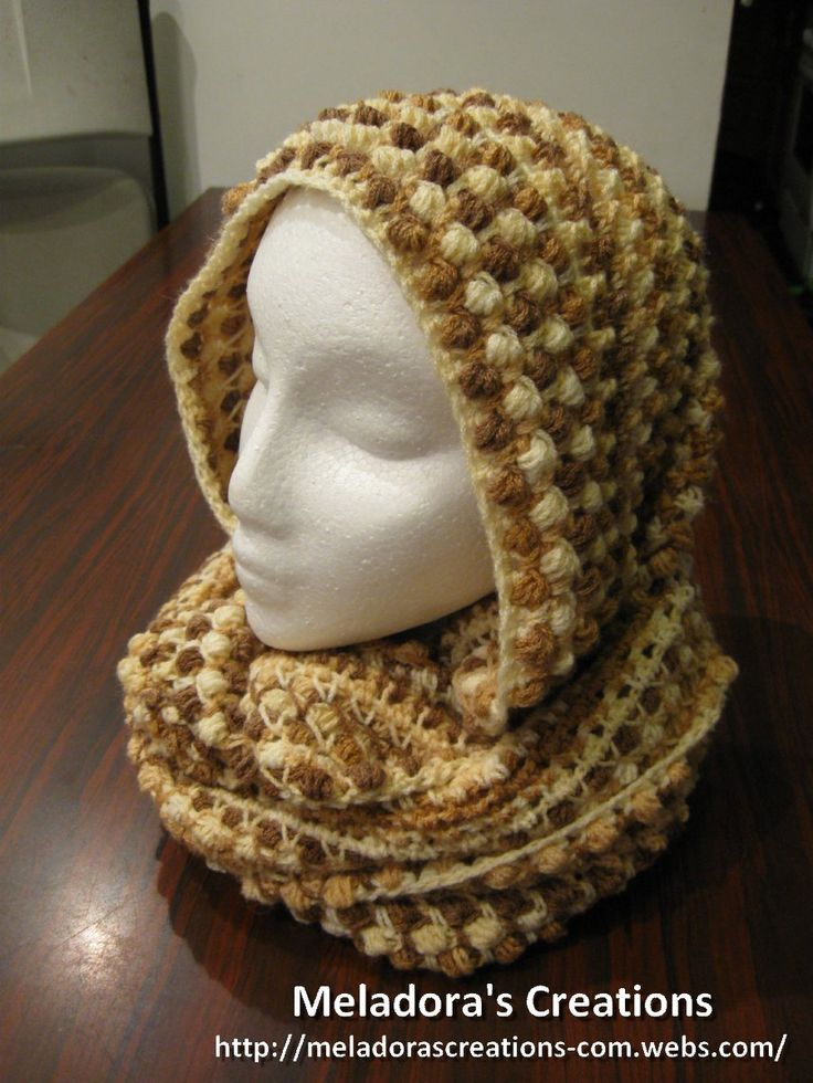 Infinity Scarf With the Butterfly Stitch - Free Crochet Pattern - Meladora's Creations