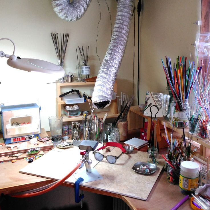 My #WorkSpace, looking reasonably tidy! #MaidofGlass