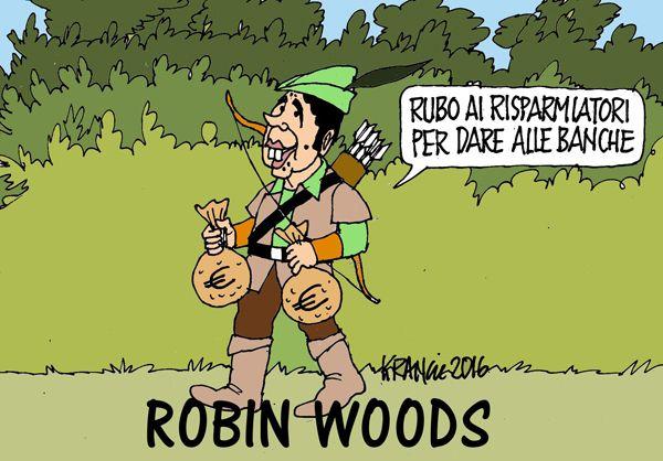 Il nuovo Robin Hood: ruba ai poveri per dare  ai ricchi...
