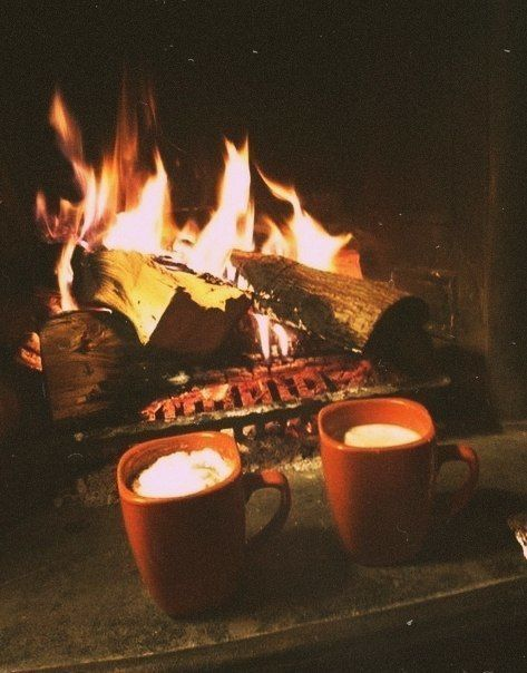 Fires and hot chocolate have to be two of my favorite things about autumn.