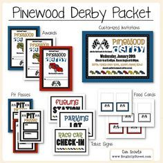 Cub Scouts Pinewood Derby Packet by BrightlyStreet on Etsy