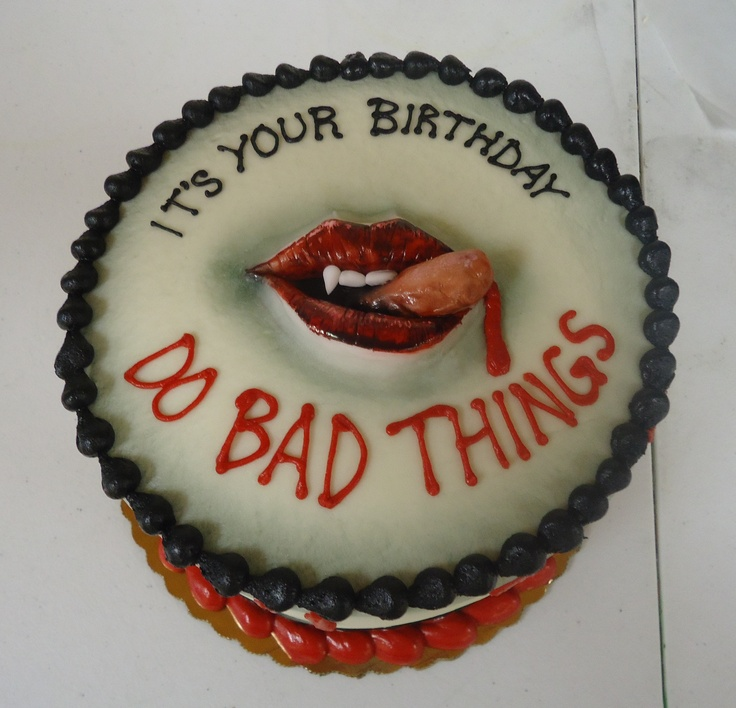 True Blood inspired cake.