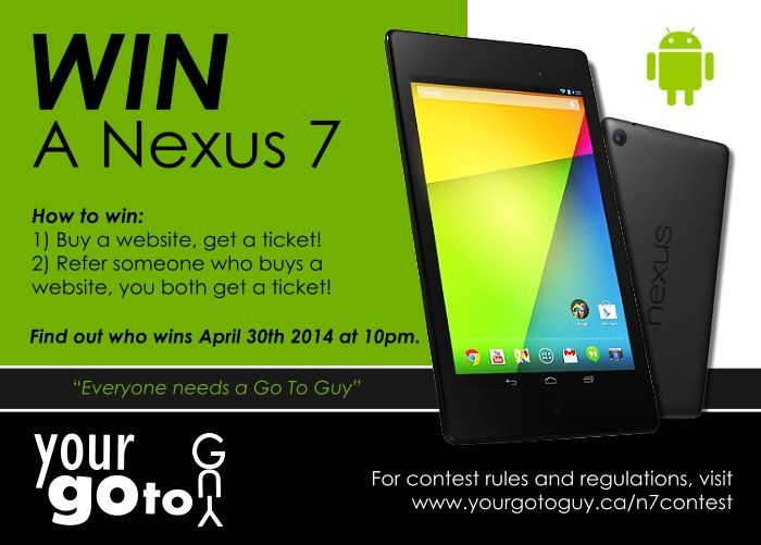 Win A Nexus 7 Contest!!! Your Go To Guy