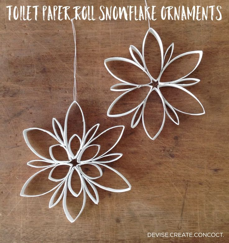 1000 images about craftiness on pinterest mini books for Snowflake out of toilet paper rolls
