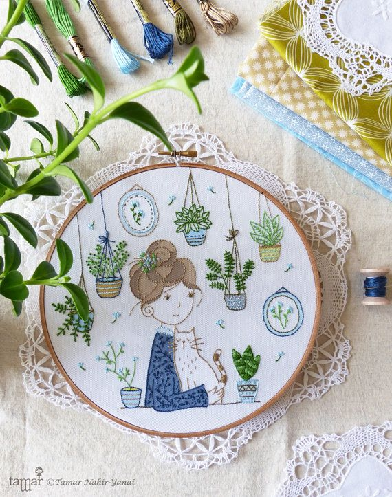 DIY kit Embroidery hoop art Embroidery Kit by TamarNahirYanai