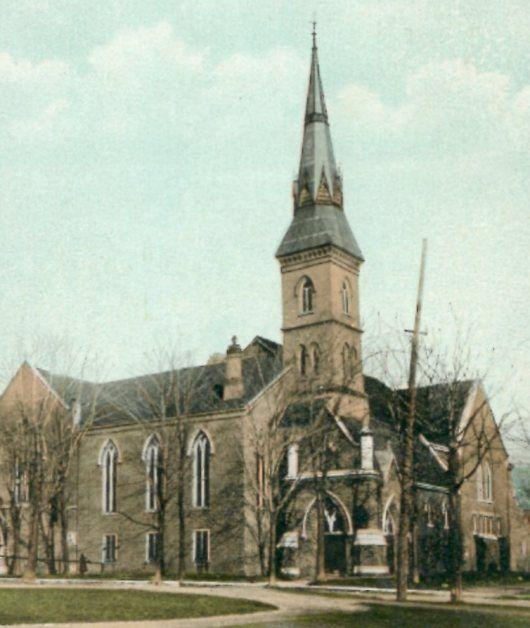 Wall St. Methodist Church, 5 Wall St., Brockville, ON – taken about 1910.