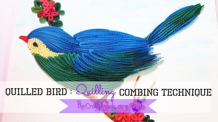 quilled bird quilling combing technique tutorial (23)
