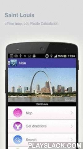 Saint Louis Map Offline  Android App - playslack.com ,  Saint Louis (United States) Map offline - is an application that allows you to view online and offline Saint Louis map in yourmobile phone. 2 types of maps are attached in application: 1st map: Offline map. You can download it in Wi-fi service area and use without Internet.2nd Map: Online map. Allows you to search for addresses, save points on the map. Map access is free of charge.Application functions are available: 1. Add any objects…