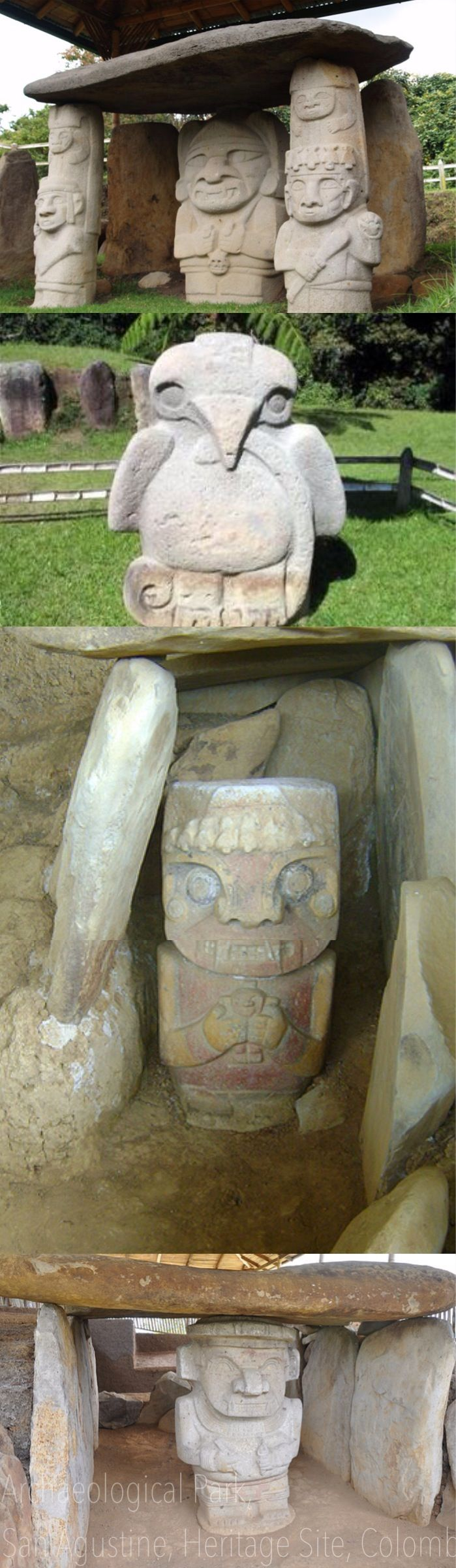 UNESCO Unesco World Heritage Site - Colombian carvings - San Agustine Archaeological Park