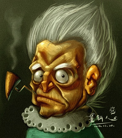 Gingerbread Man Art Blog: Old Lady-人物插畫 | 2D/Characters/Female ...