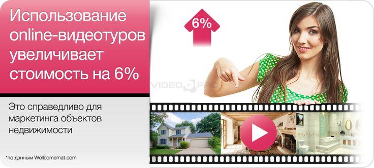 Использование online-видеотуров увеличивает стоимость на 6 %