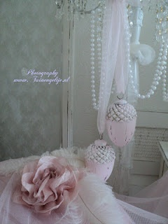 soft pink hanging ornaments