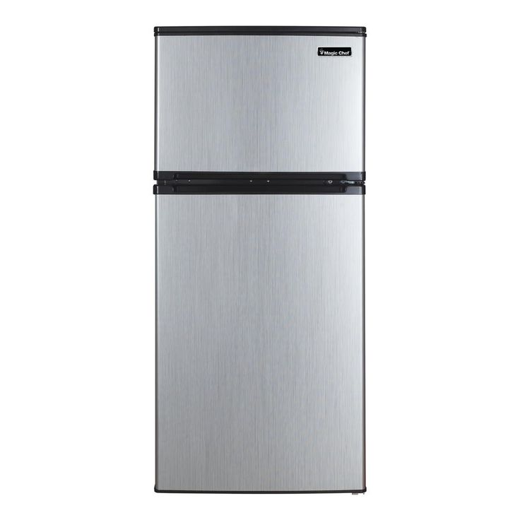 Magic Chef 4.3 cu. ft. Mini Refrigerator in Stainless Look-HVDR430SE - The Home Depot