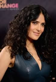Salma Hayek Natural Curls