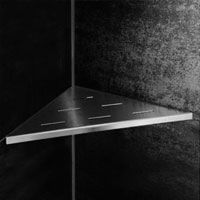 LoooX Corner Shelf integrated into the joints of your tiles and is made of high quality stainless steel. A real eye-catcher!