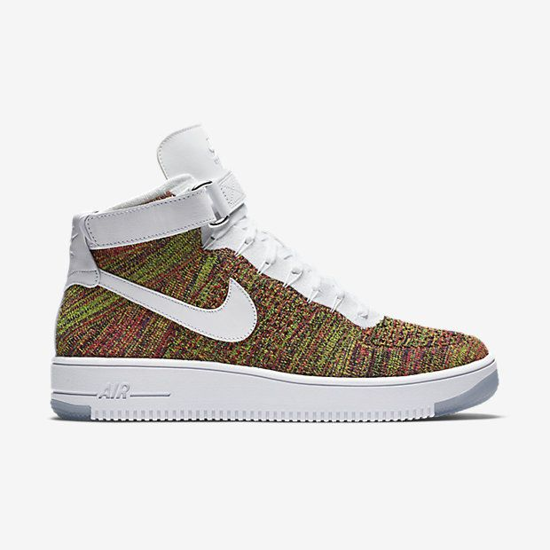 THE LIGHTEST AF1 YET The Nike Air Force 1 Ultra Flyknit Men's Shoe weighs 50 percent less than the '82 hoops original thanks to its all-new, ultra-breathable Nike Flyknit upper. Strategically crafted Flyknit panels add dimension while remaining true to the AF1 design aesthetic. Lightweight Breathability Woven Flyknit yarns integrate areas of high breathability, stretch and support where you need it most, conforming to the shape of your foot for a comfortable, lightweight feel. Superior…