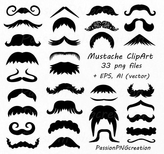 Digital Mustache Clipart Png Eps Vector Photo Prop Photo Booth Prop Photo Overlay Personal And Commercial Use Photo Overlays Clip Art Vector Photo