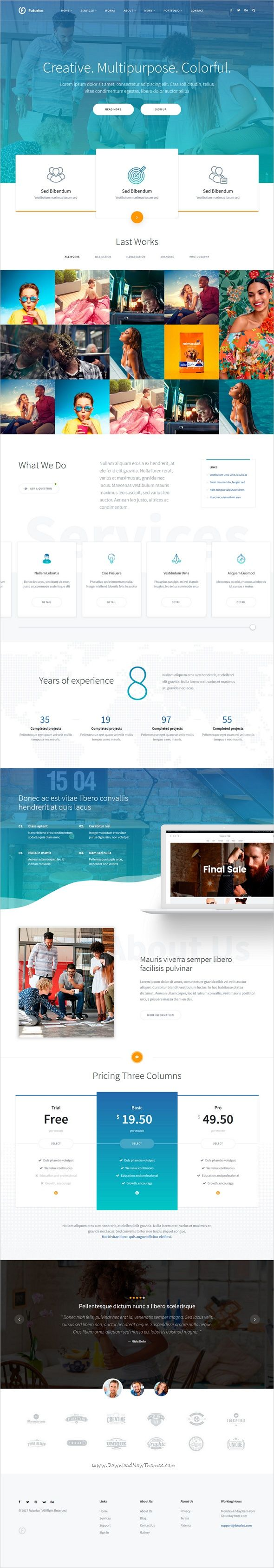 Fururico is clean and modern design 2in1 responsive HTML #bootstrap template for #webdesign multipurpose corporate #business websites download now➩ https://themeforest.net/item/futurico-multipurpose-html-template/19269302?ref=Datasata